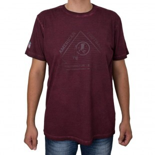 Camiseta New Era Washington Redskins Marmorizada Vinho
