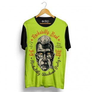 Camiseta Dep Rockabilly Party Verde