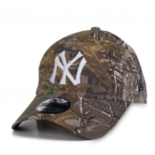 Boné New Era Strapback New York Yankees Aba Curva / Marrom