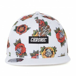 Boné Snapback Chronic Tattoed Branco