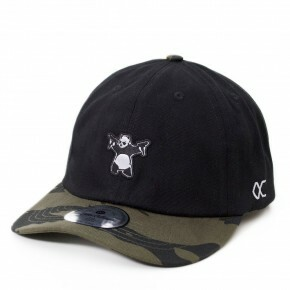 Boné Other Culture Strapback Teddy Dad Hat Preto Camuflado