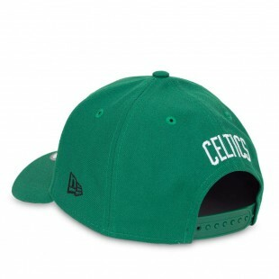 Boné New Era Snapback  9Forty Boston Celtics Aba Curva Verde