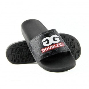 Chinelo Double-G Slide Logo / Preto