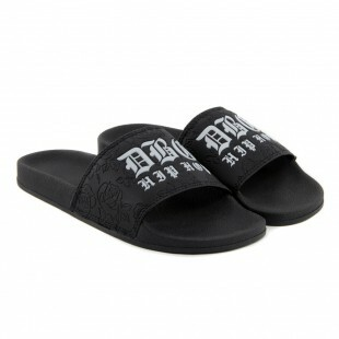 Chinelo Double-G Slide Hip-Hop / Preto