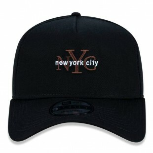Boné New Era Snapback New York City Preto Aba Curva