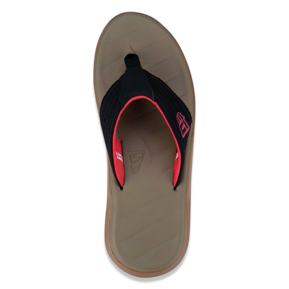 Chinelo New Era Dedo Logo Preto / Natural