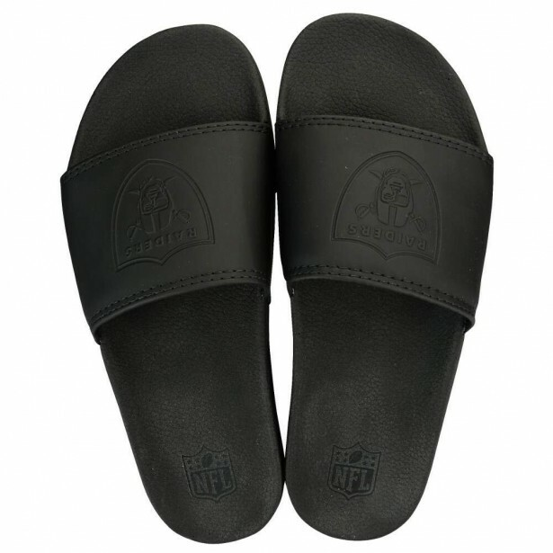 Chinelo Slide Oakland Raiders Preto
