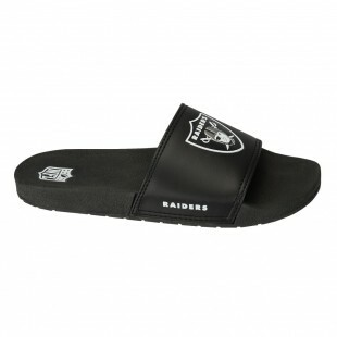 Chinelo Slide Oakland Raiders Preto / Branco