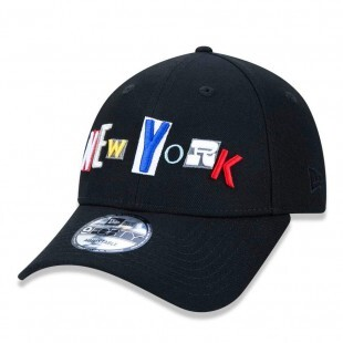 Boné New Era Strapback New York 9Forty Preto