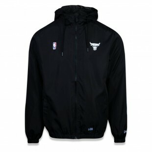 Jaqueta New Era Chicago Bulls Preta NBA