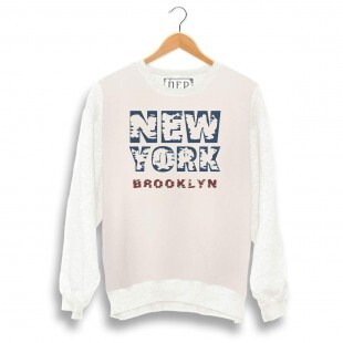 Blusa Dep New York Brooklyn Moletom Bege / Off
