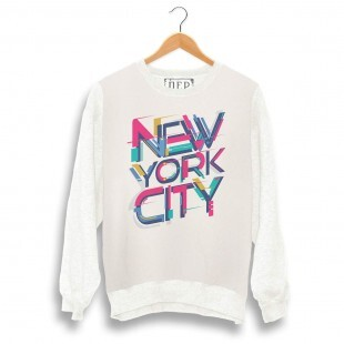 Blusa Dep New York City Moletom Bege /  Off