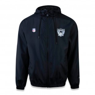 Jaqueta New Era Oakland Raiders NFL Windbreak Preta
