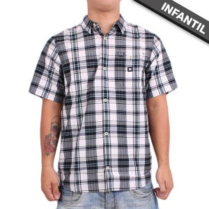 Camisa DC Shoes Infantil Dignan Chess Grey