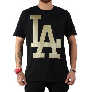 Camiseta New Era Los Angeles Dodgers Black/Gold