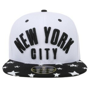 Boné New York City Snapback White/Black
