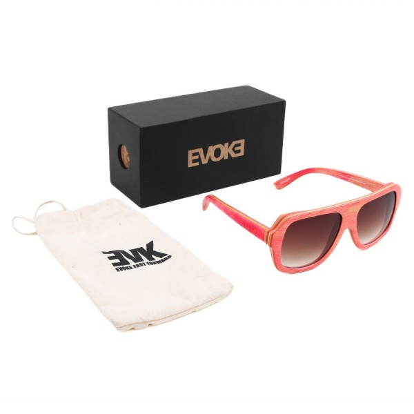 Oculos Evoke Wood Series 01 Maple Collection Pink