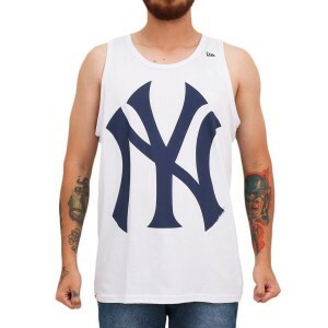 Camiseta New Era Regata New York Yankees White/Navy