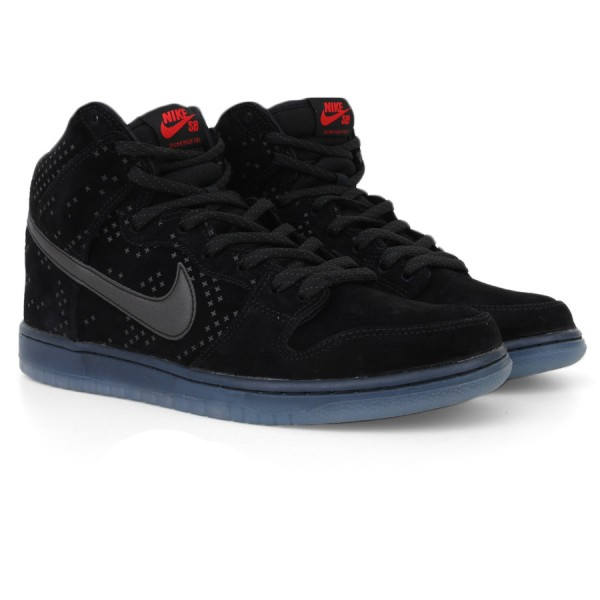 Tênis Nike Dunk High Prem Flash SB Black/Black-Clear