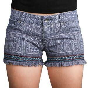Short Roxy Lovin Emby Imp Jeans Blue/Printed