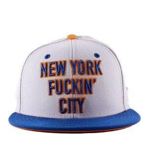 Boné Cayler And Sons Snapback New York Fuckin City Grey/Blue/Orange