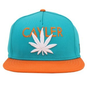 Boné Cayler And Sons Snapback Budz Green/Orange