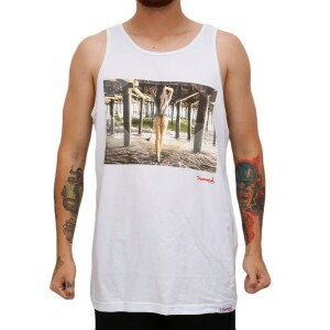 Camiseta Diamond Supply Co Regata Pier Girl Tank White