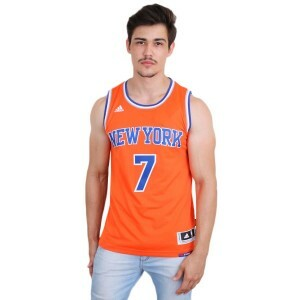 Camiseta Adidas Regata Swingman New York Knicks Alternate Carmelo Anthony Orange