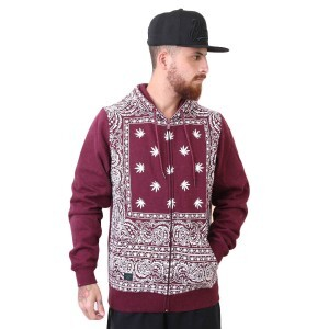 Moletom Cayler And Sons Hazely Zip Hoody Maroon/White