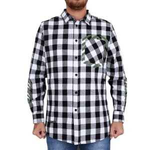 Camiseta Cayler And Sons BL Legend Flannel Long Shirt Branco/Preto/Verde