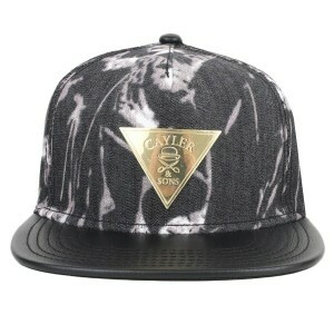 Boné Cayler And Sons Snapback Acid Preto/Dourado