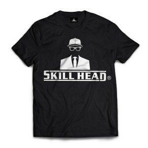 Camiseta Skill Head Logotipo Preto