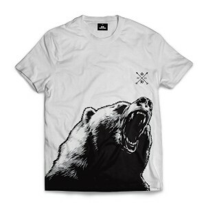 Camiseta Skill Head Bear Branco