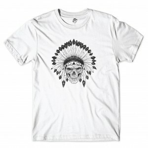 Camiseta BSC Indian Skull Branco