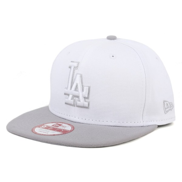 Boné New Era 9Fifty Original Fit Snapback Los Angeles Dodgers Branco/Cinza