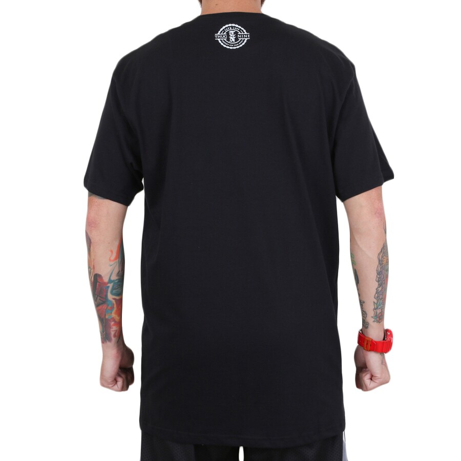 Camiseta Thug Nine Gangsta Walk Preto