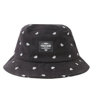 Bucket Hat Thug Nine Gangsta Life Preto