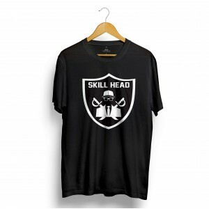 Camiseta Skill Head Escudo Raiders Preto