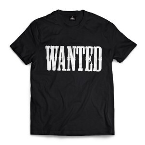 Camiseta Skill Head Wanted Preto