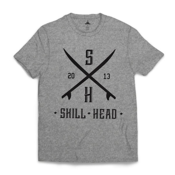 Camiseta Skill Head Surf Board Cinza