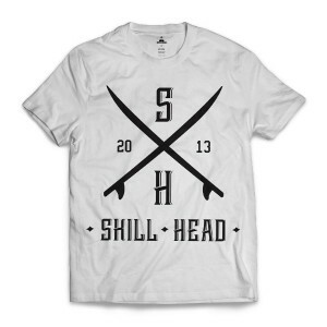 Camiseta Skill Head Surf Board Branco