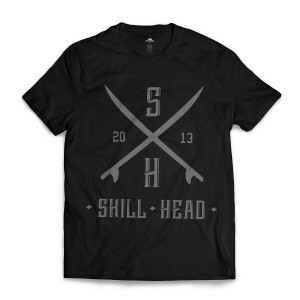 Camiseta Skill Head Surf Board Preto