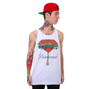 Camiseta Diamond Supply Co Regata Caddy Tank Branco