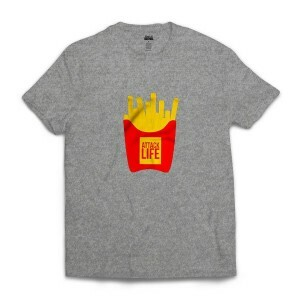 Camiseta Attack Life French Fries Cinza