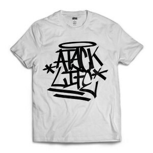 Camiseta Attack Life Tag Branco