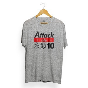 Camiseta Attack Life Japan Cinza