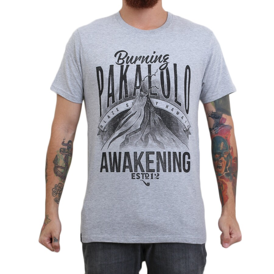 Camiseta Blaze Supply Pakalolo Cinza