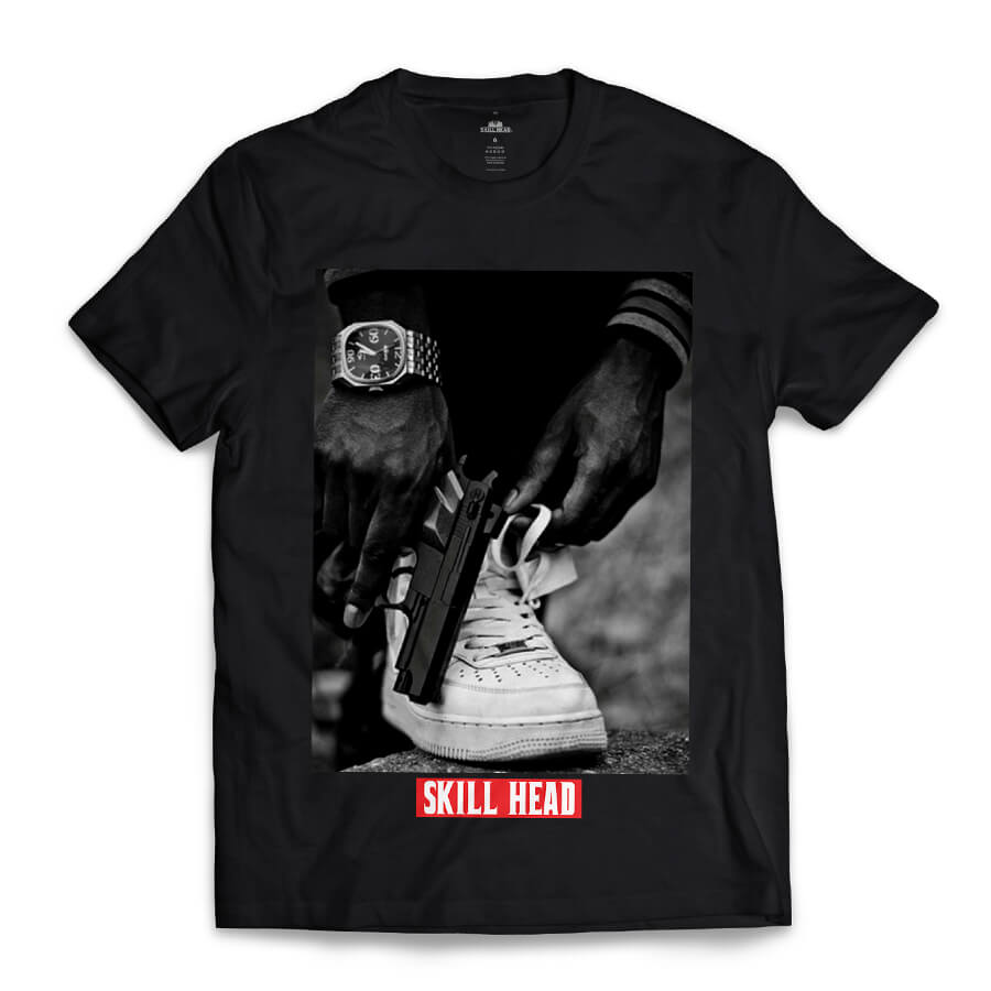 Camiseta Skill Head Civil Armado Preto