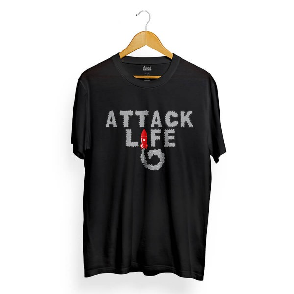 Camiseta Attack Life Rocket Preto