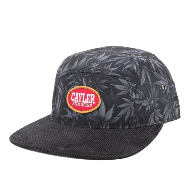 Boné Cayler And Sons Five Panel Strapback Blunted Preto